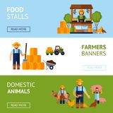 Farmers Banner Set Stock Photography