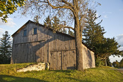 Farmers barn. Nice view of the wooden barn Stock Image
