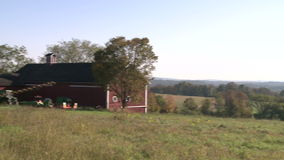 Farmers barn (2 of 4). A view or scene on the farm stock footage