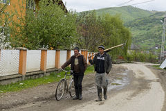 Farmers Botiza Village Romania Royalty Free Stock Images