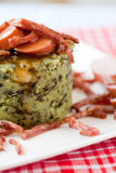 Farmers cabbage. With sausage and bacon; typical dutch dish Stock Image