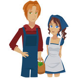 Farmers couple. Image of a farmers couple posing Royalty Free Stock Photo