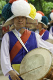 Farmers dance drummer. Royalty Free Stock Photos
