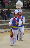 Farmers' dance at Korean Folk Village stock photo