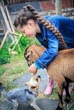 Farmers Daughter Stock Photo