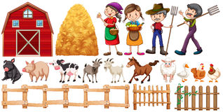 Farmers and farm animals Royalty Free Stock Photography