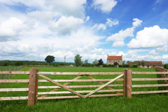 Farmers fence around field Stock Images