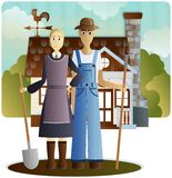 Farmers Gothic Royalty Free Stock Photos