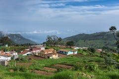 Farmers hamlet in Thalaikunha valley, Nilgiri Hills, India. Royalty Free Stock Photos