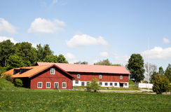 Farmers house. Houses and environment in Sweden Royalty Free Stock Photos