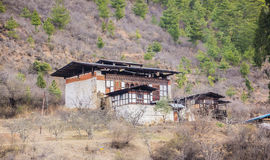 Farmers houses near Paro Stock Image