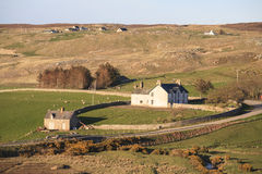 Farmers' houses on the Tong Bay area, Scotland Royalty Free Stock Photography