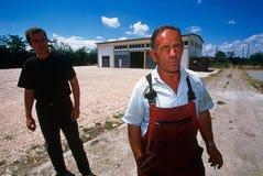 Farmers in Kosovo. Stock Photo