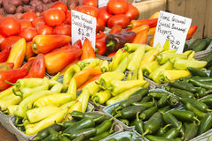 Farmers Market. Fresh vegetables at a farmers market in Minneapolis Stock Image