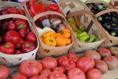 Farmers MArket. Fresh vegtables at the market for sale Stock Photos