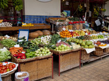 Farmers market. Madeira island, farmers in Funchal Stock Photo