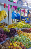 Farmers Market. A small fruit stand inside a farmers market in a rural area of Mexico Royalty Free Stock Photo
