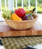 Farmers Market Basket Stock Image