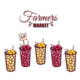 Farmers Market Berries Stock Photos