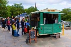 Farmers Market in Edinburgh, Scotland Royalty Free Stock Photo