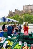 Farmers Market in Edinburgh, Scotland, UK Royalty Free Stock Photos