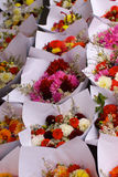 Farmers market flowers vertical Royalty Free Stock Image