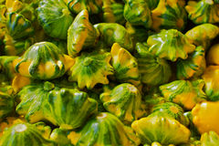 Farmers Market Flying Saucer Squash Royalty Free Stock Photography