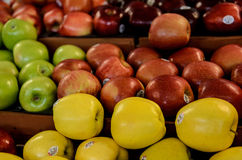 Farmers Market fresh apples Royalty Free Stock Images