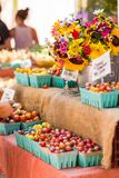 Farmers Market. Fresh organic produce at the local farmers market royalty free stock photos
