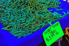 Farmers Market fresh Sugar Snap Peas Stock Photography