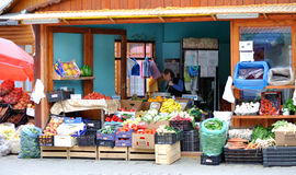Farmers Market. Fresh vegetables at a farmers market in Romania Royalty Free Stock Images