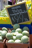 Farmers Market fresh watermellon Stock Images