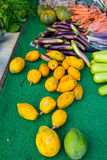 Farmers Market Fruits Vegetables Stock Images