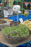 Farmers Market green and yellow wax beans Royalty Free Stock Photo