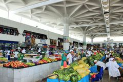 Farmers Market. Gulistan in Ashgabad People at closed market in Ashgabad, Turkmenistan Stock Photography