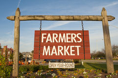 Farmers Market. An image of a farmers market sign Stock Image