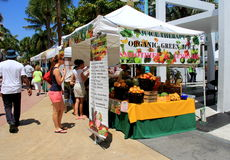 Farmers Market,Lincoln Road,Miami,2014 Royalty Free Stock Photo