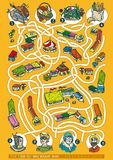 Farmers Market Maze Game Royalty Free Stock Photo