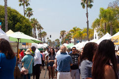 Farmers Market in Oceanside, California Stock Photography