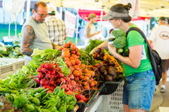 Farmers market. Parker, Colorado, USA-July 26, 2015. Local produce at the summer farmers market in the city stock photography