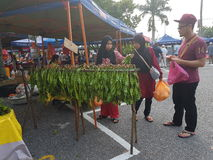 Farmers Market  at Paroi  Jaya, Seremban, Negeri Sembilan at Malaysia Royalty Free Stock Photo