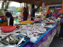 Farmers Market  at Paroi  Jaya, Seremban, Negeri Sembilan at Malaysia. A farmers' market (also farmers market) is a physical retail market featuring foods sold Stock Photos