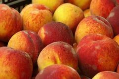 Farmers Market peaches. Juicy ripe peaches fresh from the farm Stock Photos