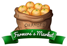 Farmers market poster Royalty Free Stock Images