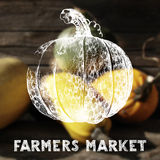 Farmers market poster Stock Photography