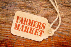 Farmers market - price tag sign royalty free stock image