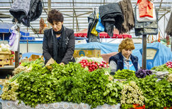 Farmers market in Pyatigorsk Stock Photos