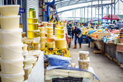 Farmers market in Pyatigorsk Stock Photos