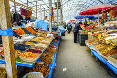 Farmers market in Pyatigorsk Stock Image