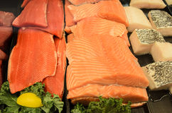 Farmers Market salmon pink Royalty Free Stock Image